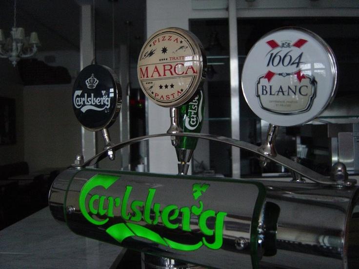 Carlsberg and 1664 Blanc on tap @MarcaPizzaPasta www.marcapizzapasta.com
