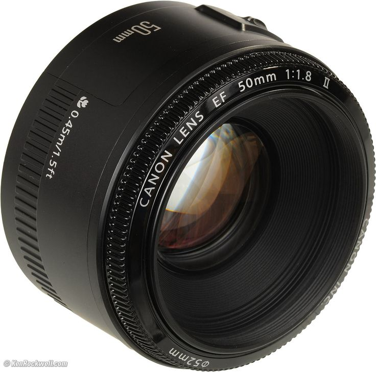 Canon EF 50mm f/1.8 II - This lens is a great lens that everyone should own. They are very inexpensive and ridiculously sharp. Also, it's an f/1.8 which means it's a very fast lens and it can produce some very dreamy bokeh.