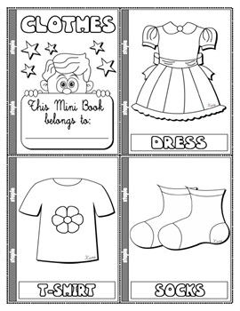 #CLOTHES COLOURING MINI BOOK ( 24 PAGES)