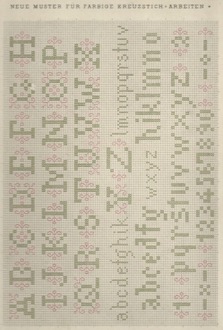 1 / Blatt 21 - Neue Muster-Vorlagen Fur Farbige Kreuzstich-Arbeiten - A. Scheffers - Published by J. M. Gebhardt's Verlag, Leopold Gebhardt, 1887