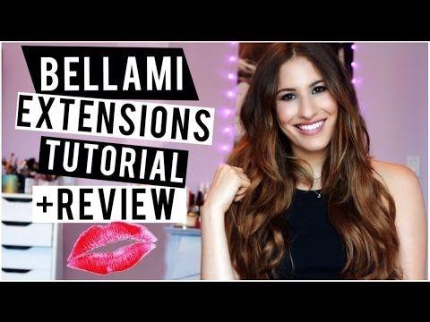 Bellami Hair Extensions Review, Demo + Tutorial! ♡   Clip-in Hair Extensions on Short Hair!
