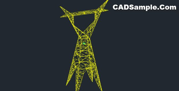 400 kv transmission tower in AUTOCAD Free Dwg