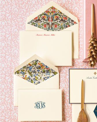 Beautiful Ecru Stationery Lined Envelopes By Crane Co Available For Order Through Noteworthy