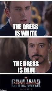 Vestido blanco y dorado humor