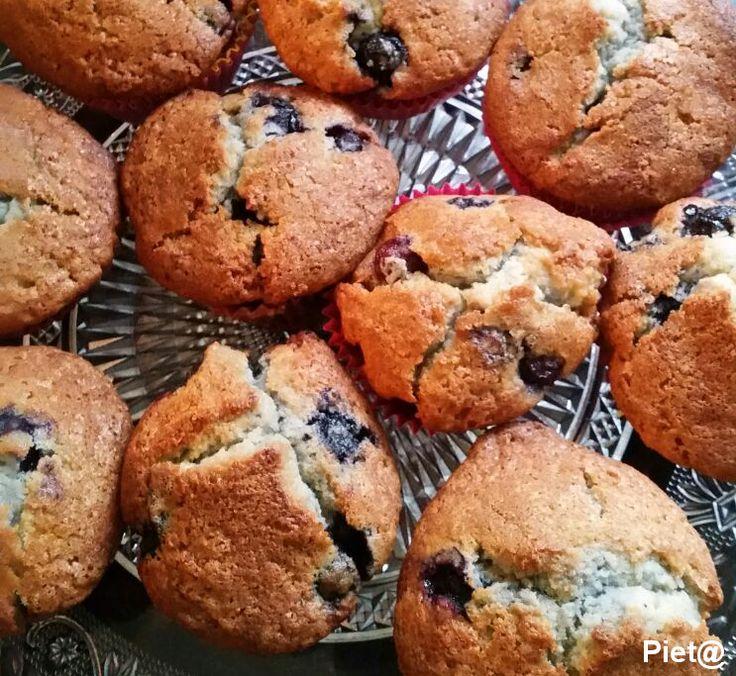 Pieta's hapjes: Muffins met blauwe bessen