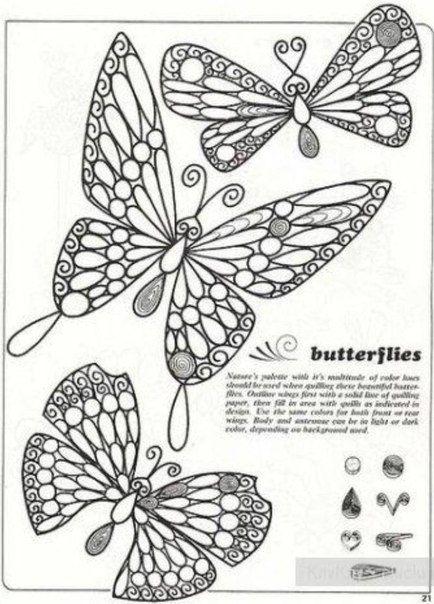 Схема бабочки квиллинг