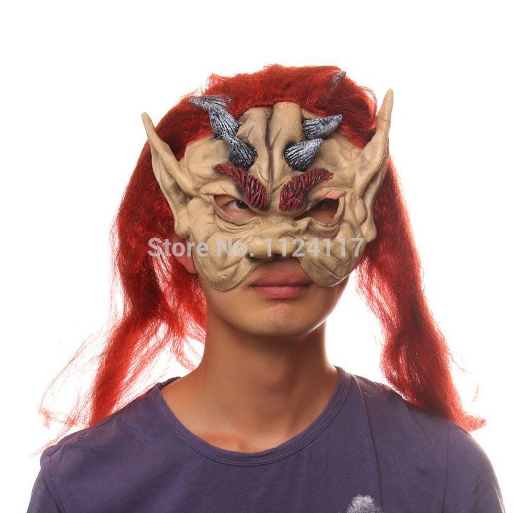 Хэллоуин туши для ресниц маска Horrorble смешные маски Карнавальные маски партии реалистичные силиконовые зло маскарадные маски MS0015