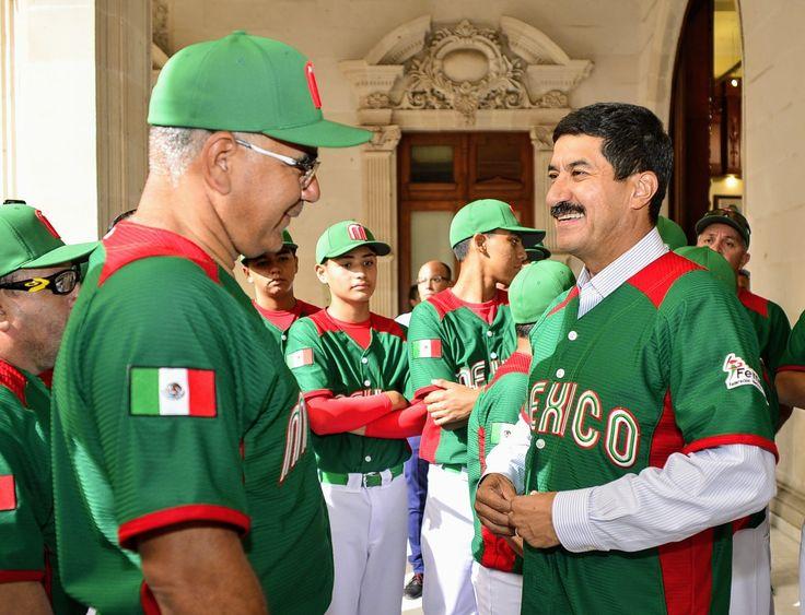 Abanderan a selección mexicana de béisbol U14