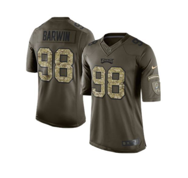 Men's Nike Connor Barwin Green Philadelphia Eagles Salute To ...