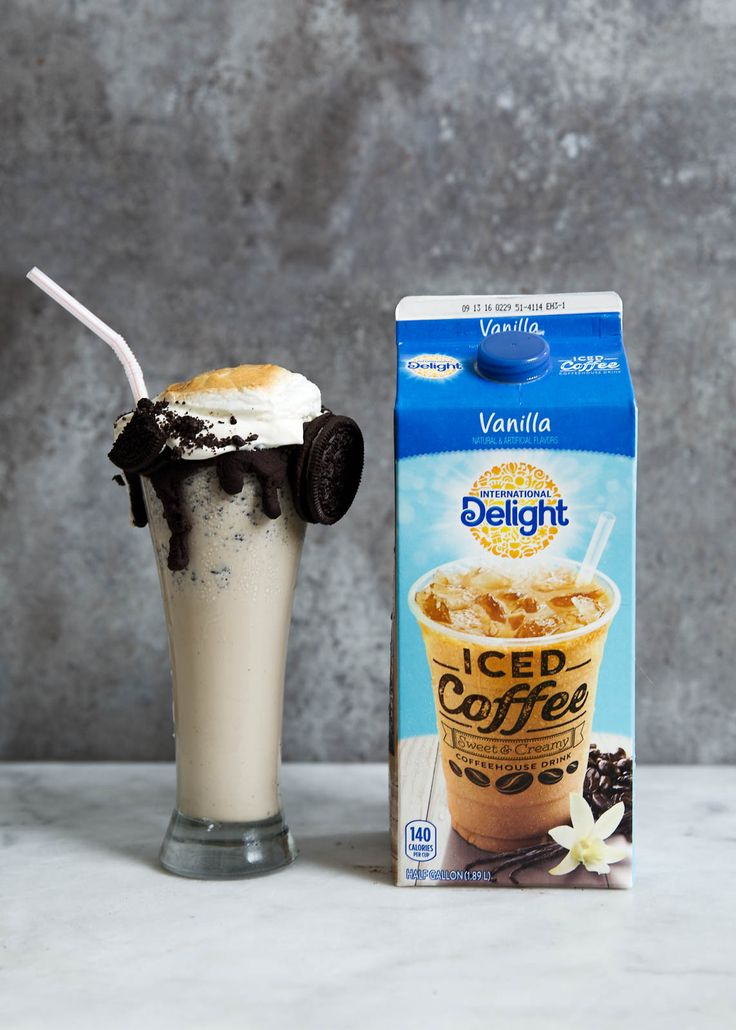 iced coffee cookies and cream milkshake recipe | The ultimate Iced Coffee Cookies and Cream Milkshake, complete with ...