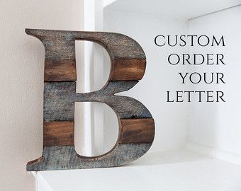 Large Wood Letters Rustic Letter Cutout Custom by CoveredBridges