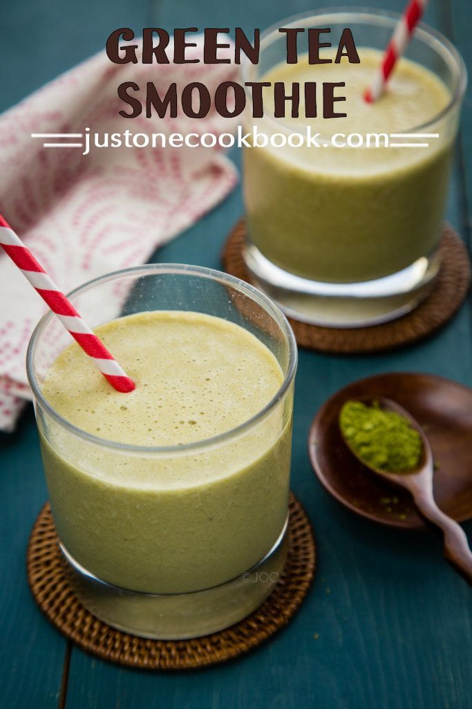 Green Tea Smoothie (抹茶スムージー) | Easy Japanese Recipes at JustOneCookbook.com
