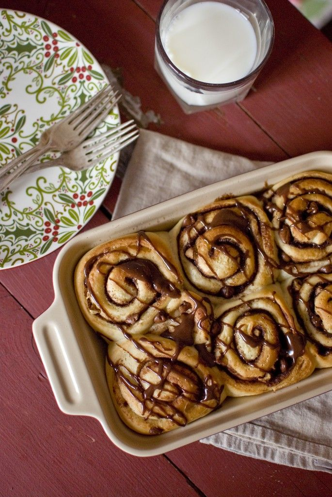 Walnut Choclate Chip Cinnamon Rolls! Perfect for Christmas morning!!
