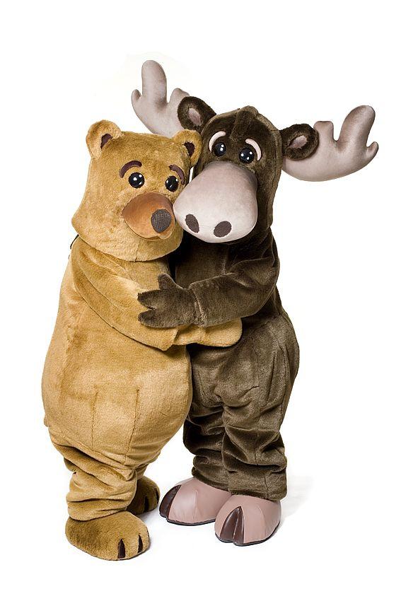 Björnen & Älgen - Sweden #mascot #costume #character #sweden