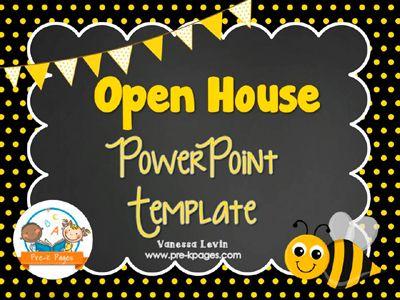 bee open house powerpoint template for preschool and kindergarten