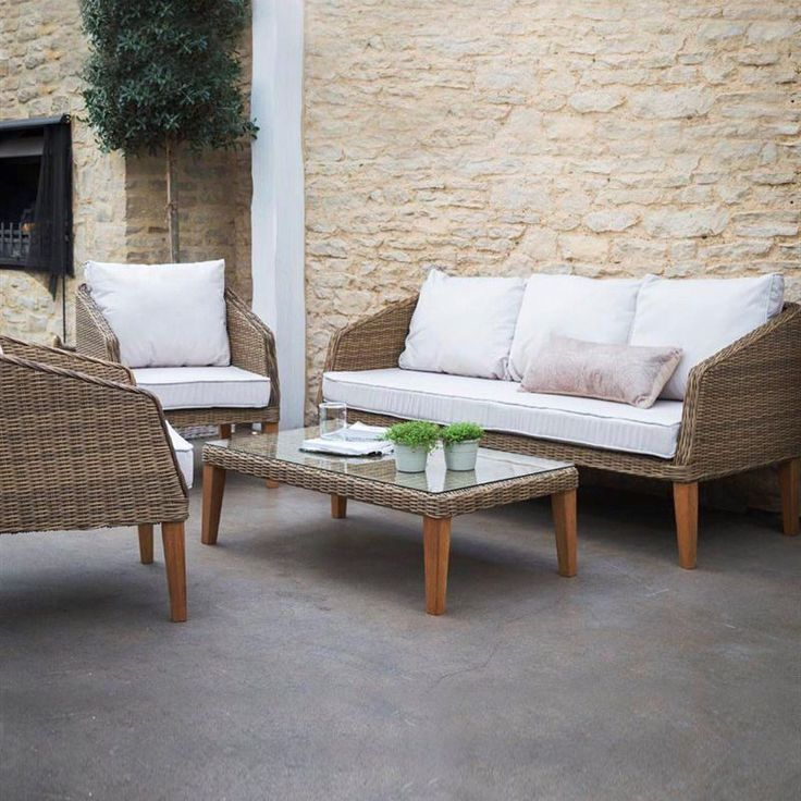 Ambersham Rattan Furniture Set, Patio