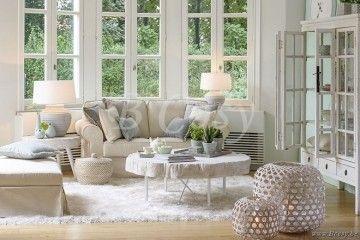 J-Line Linnen sofa 2-zit met linnen kussen ivoor 170