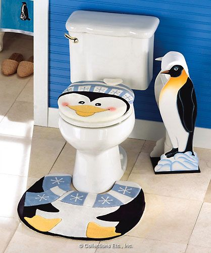 Penguin bathroom accessories