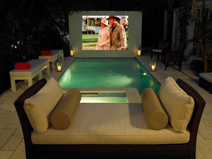 Take your home cinema experience into the tropical backyard - Decoist