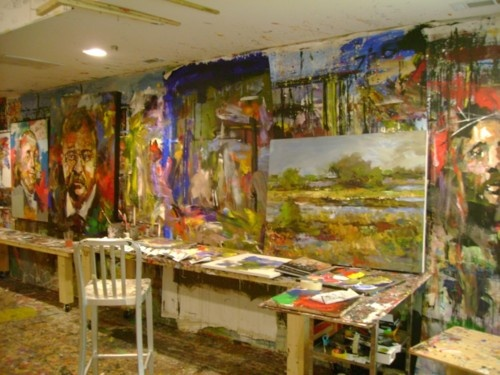 I want an art studio, just like this one belonging to artist Steve Penley