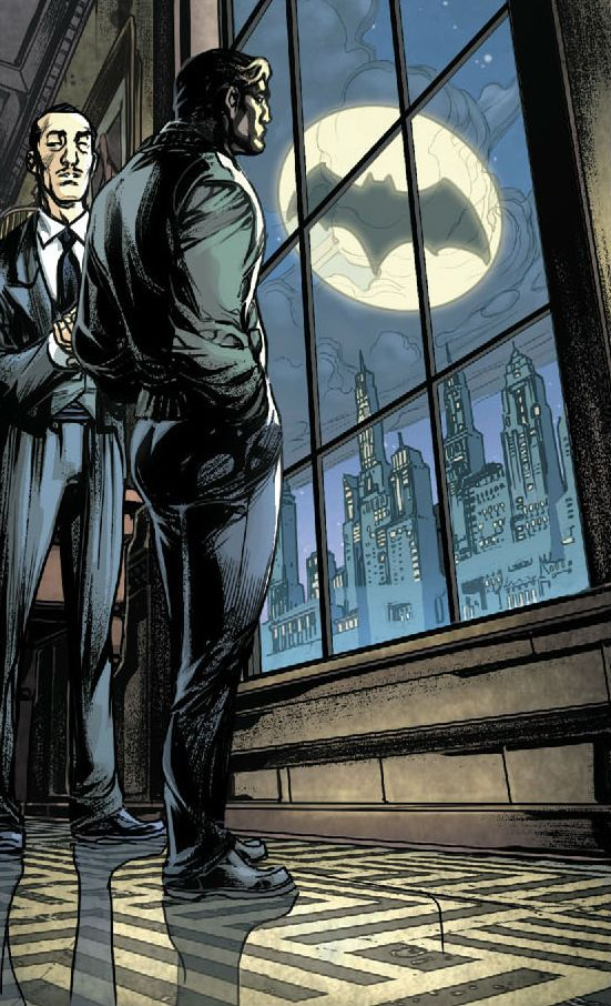 Alfred Pennyworth and Bruce Wayne by Howard Porter