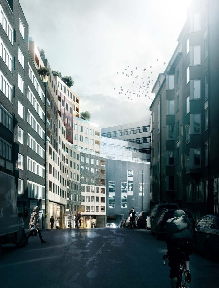 Image 2 of 6 from gallery of 'Paradiset 19-21' Housing Proposal / Kjellander + Sjöberg Architects. Courtesy of Kjellander + Sjöberg Architects