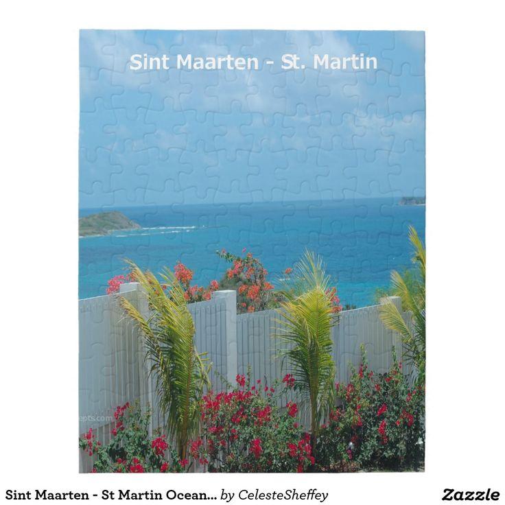 Sint Maarten - St Martin Oceanview Puzzle by khoncepts.com