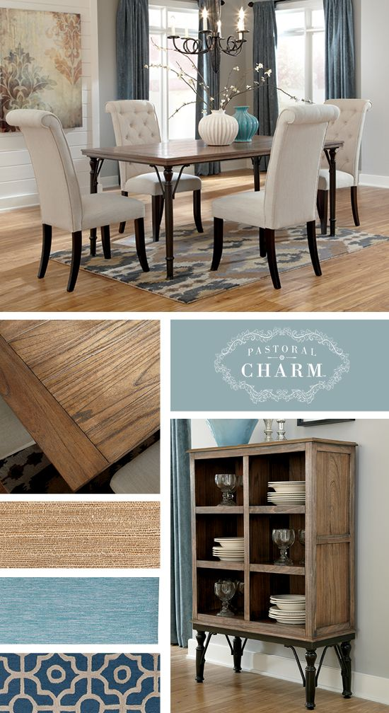 Perfect Pastoral Charm™   Tripton Dining Room Set   Ashley Furniture # AshleyFurniture | Color Schemes In 2018 | Dining Room, Dining, Room
