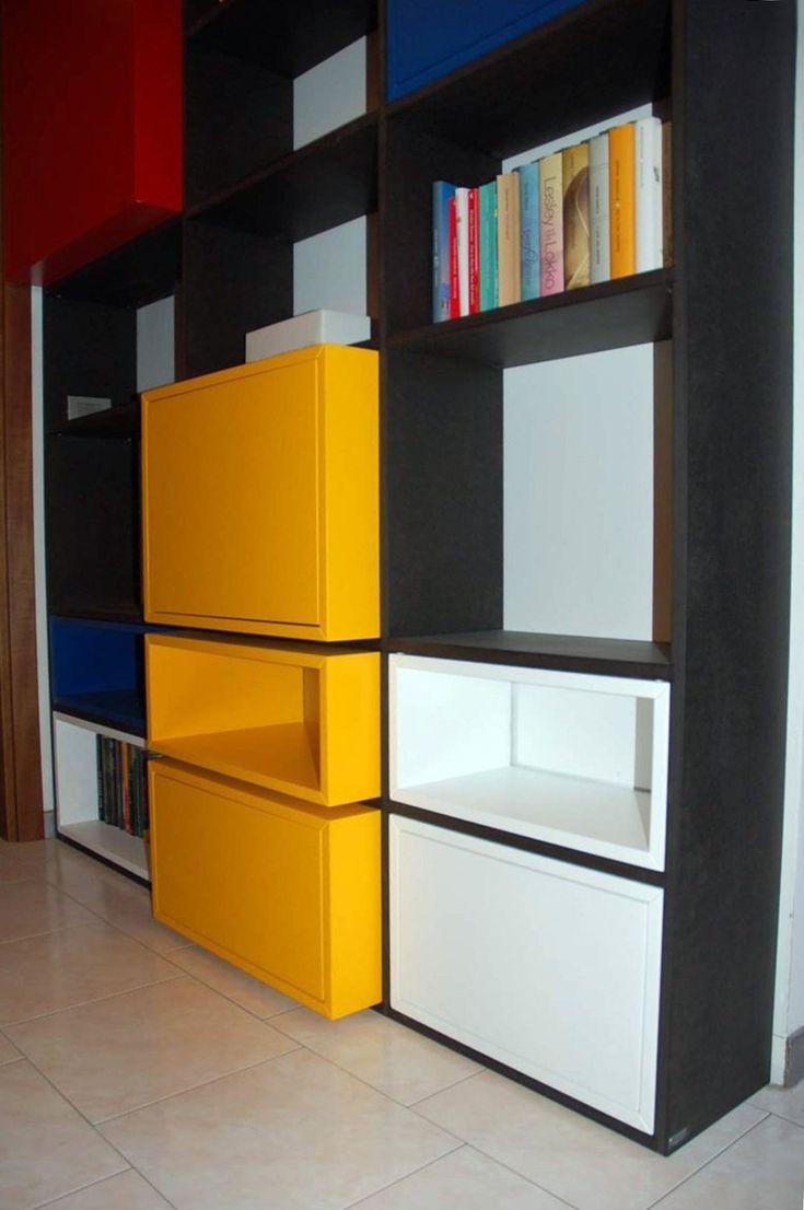 mondrian tribute library, Brescia, 2013 - Federico Guastaroba