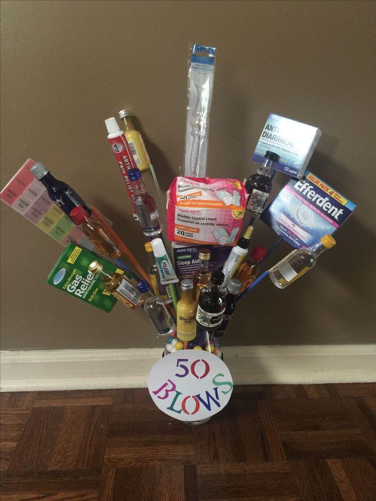 50 birthday, crafts, DIY, gift basket