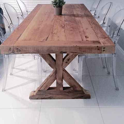 70 best best tables by coneytimbers images on pinterest for Reclaimed wood furniture portland oregon