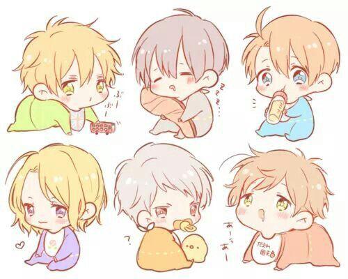 Hetalia - Littles England, Japan, America, France, Prussia, and Spain : Babies !