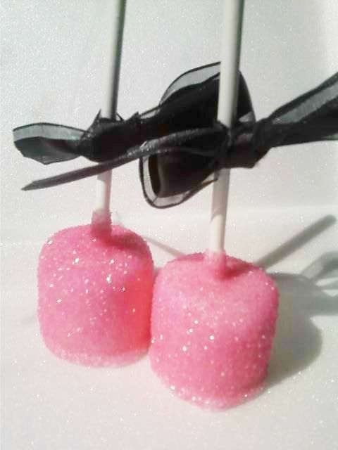 Glitz Pink Marshmallow Pops Do them in white or silver glitter