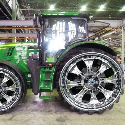 Que tal los rines del Tractor, excelentes!