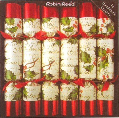 Robin Reed Bows & Berries Christmas Crackers (Set of 12) ...