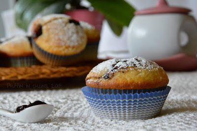 Muffins alla ricotta con il cuore di marmellata