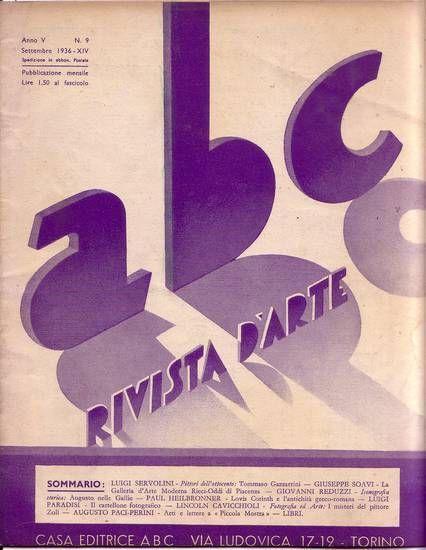 ABC  Rivista d'arte  anno V n.9 settembre 1936 Tommaso Gazzarrini Lovis Corinth