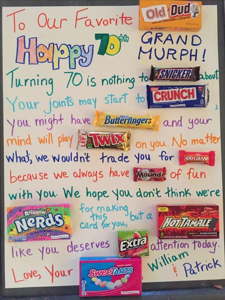Milestone Birthday Candy Poster Happy 70th Grandpa Gift Ideas 2019 Grandpabirthdaygifts Mileston Posters
