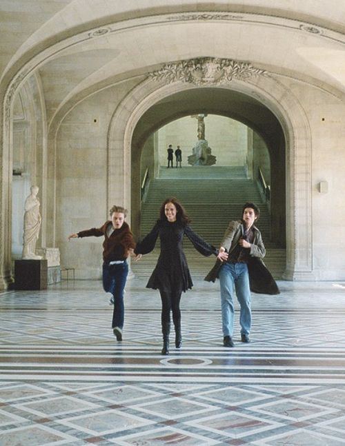 (l-r) Michael Pitt, Eva Green and Louis Garrel in Bertolucci's The Dreamers