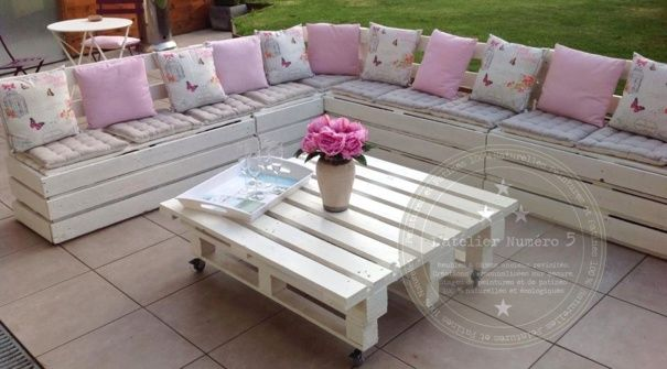 1000 images about palette meuble on pinterest for Salon de jardin en palette de bois
