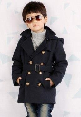 Детские шерстяные пальто для мальчика