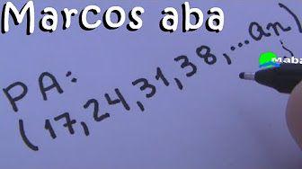 PA - Progressão aritmética - aula 01 - YouTube