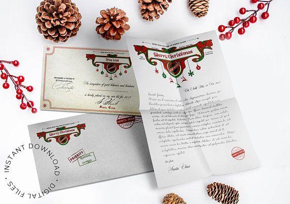 Letter from Santa EtsyCIJ Santa Claus letterhead Santa
