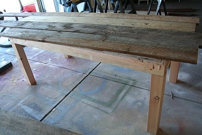 Farm table DIY