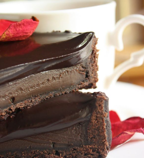 Cherry on a Cake: CHOCOLATE TART - FOOD FOR THOUGHT