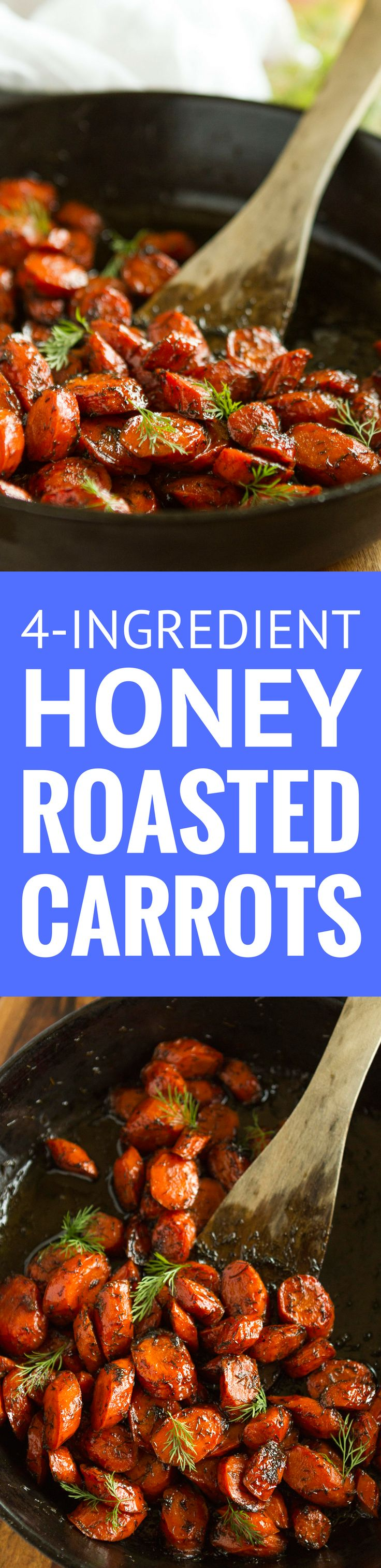 Brown Butter Honey Roasted Carrots with Dill -- this easy roasted carrots recipe is sure to get the whole family to eat their veggies! Just 4 simple ingredients: brown butter, carrots (of course), honey and dried dill… Totally amazing!!! | roasted carrots honey | roasted carrots oven | roasted carrots healthy | find the recipe on unsophisticook.com #sidedishes #carrots #carrotrecipes #easyrecipe