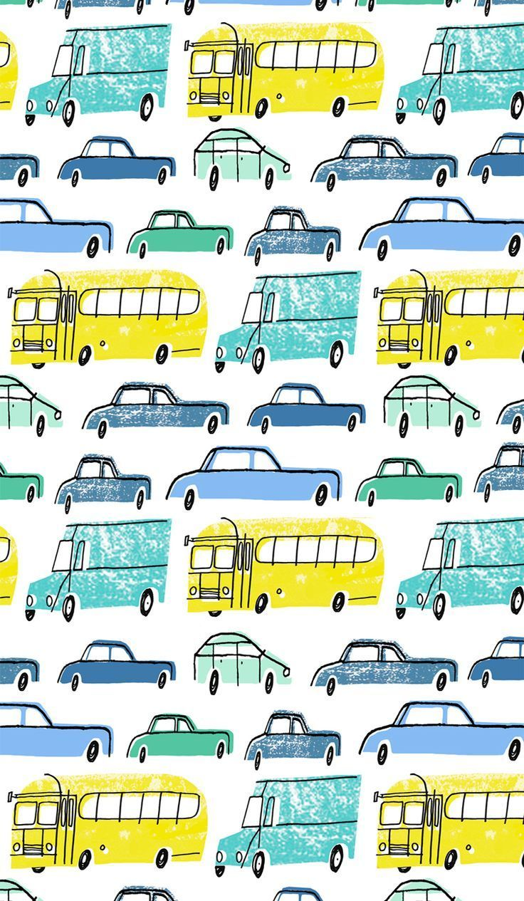 My Beep Beep Pattern Copyright 2016 Alanna Cavanagh Pattern Illustration Licensing Bedding Licensing 車 イラスト 刺繍 図案 絵本イラスト