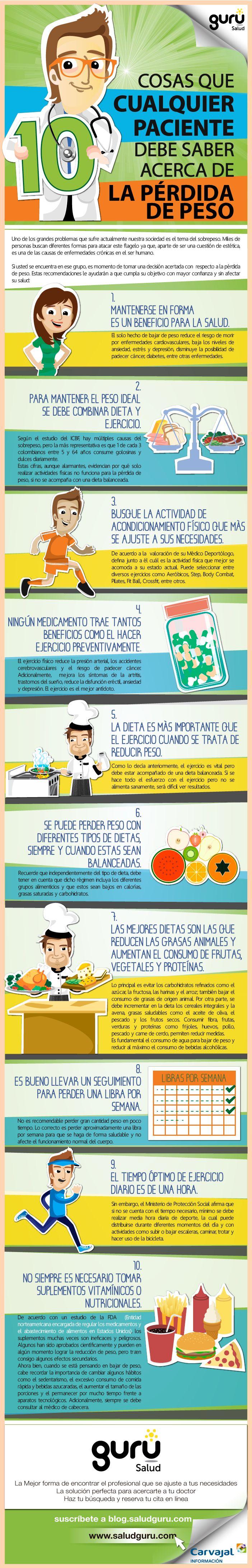 #Infografia con 10 consejos prácticos sobre perder peso