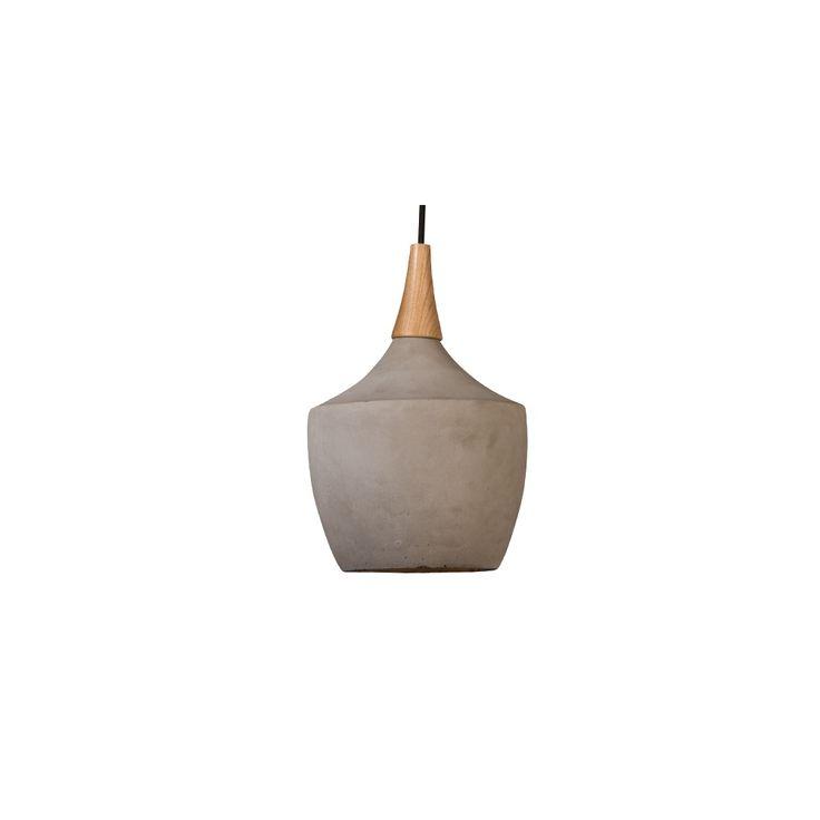 CONCRETE+PENDANT+LAMP+in+Industrial+Carafe+Design