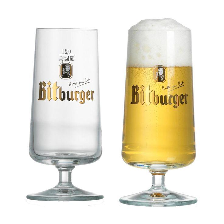 Cocktail-Gläser Bitburger Biergläser 0.2l - 2er Set mit Logo